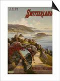 Switzerland Across the Jura  circa 1910