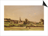 An Extensive Landscape with a Ploughman and a Village Beyond  1887