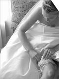 Bride Pulling Up Garter