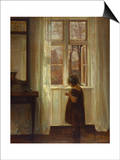 A Girl Standing at a Window