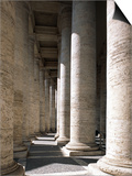 Colonnade at St Peter's Square  Vatican City State  Rome  Italy
