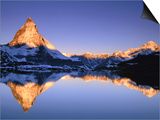 Matterhorn reflected in lake