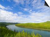 Liard River Near the Alaska Highway in Canada