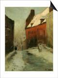 A Winter Street Scene  Montreuil