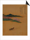 Hermit Fishing on the Peach Blossom Stream  in the Style of Zhao Mengfu  from an Album of Ten…