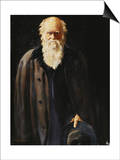 Portrait of Charles Darwin  standing three quarter length