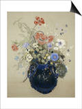 A Vase of Blue Flowers  circa 1905-08
