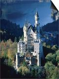 Neuschwanstein castle in autumn  Bavaria