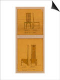 Design for Chairs Shown in Front and Side Elevation  1903  for the Room de Luxe