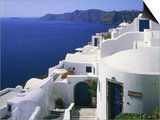 Apartment block in Oia  Santorin  Greece