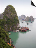Boats in Halong Bay in Vietnam