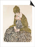Edith with Striped Dress  Sitting