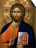 Christ Pantocrator Icon at Aghiou Pavlou Monastery on Mount Athos