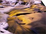 Evening Sky Reflected in Rapids  Junction Creek  Walden  Ontario  Canada