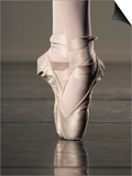 Feet of Ballet Dancer En Pointe