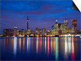 View of Toronto Skyline at Night from 'The Docks'  Toronto  Ontario  Canada