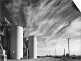 Grain Elevators with Clouds