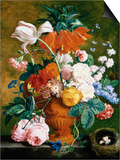 A Vase of Rich Summer Flowers