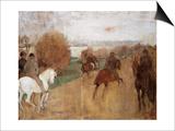 Cavaliers Sur Une Route