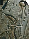 Detail of Pharaoh Akhenaton from Akhenaton and his Family Offering to Aten