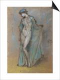 Female Nude with Diaphanous Gown