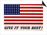 Give It Your Best! - 1942 USA Flag