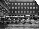 Raining on Cafe in Plaza Mayor