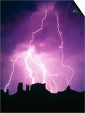 Lightning over Monument Valley