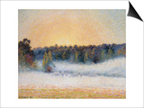 Sunset and Fog  Eragny