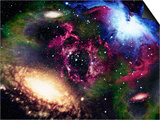 Galaxies and Nebulas of Outer Space