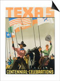 Texas Centennial Celebrations Poster