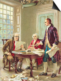 """""""The Drafting of the Declaration of Independence"""" Trade Card After Painting by Jean Leon Germome Fe"""