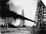 Oil Gushing from Spindletop Hill in Beaumont  Texas