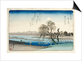Autumn Moon at Tama River  from the Series Eight Views of the Suburbs of Edo