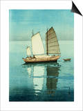 Afternoon  from a Set of Six Prints of Sailing Boats