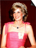 Princess Diana in Australia at the State Reception at Brisbane Wearing a Pink Dress and Tiara
