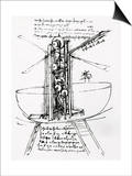 Drawing of a Manually Driven Flying Machine by Leonardo da Vinci