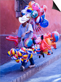 Balloon Vendor Walking the Streets  San Miguel De Allende  Mexico