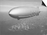 Dirigible Macon over New York City