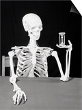 Skeleton Holding Hourglass