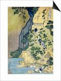 The Kannon Shrine at the Kiyo Falls at Sakanoshita on the Tokaido  from the Series A Journey to the