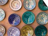 Moroccan Plates  Ensemble Artisanat  Ouarzazate  South of the High Atlas  Morocco