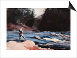 Man Fishing a New England Stream by Winslow Homer