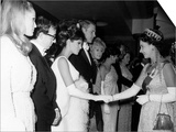 Raquel Welch Meets Queen Elizabeth in 1966 with Woody Allen and Ursula Andress