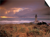 North Head Lighthouse at Sunset  Fort Canby State Park  Washington  USA