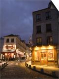 Rue Norvins and Basilique du Sacre Coeur  Place du Tertre  Montmartre  Paris  France