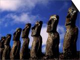 Huge Moai  Ahu Akiri  Easter Island  Chile