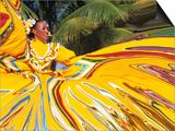 Dancers Performing in Costume  Costa Maya  Mexico
