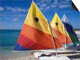 Sailboats on the Beach at Princess Cays  Bahamas