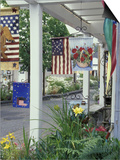 Flag Shop on Whidbey Island  Washington  USA